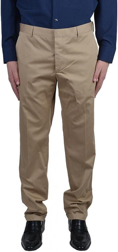 Prada Beige Flat Front Men's Casual Pants