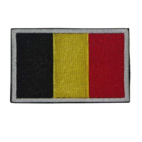 Cobra Tactical Solutions Flagge Belgien Belgische vlag Belgium Military Patch Bestickt mit Klett für Airsoft Paintball für Taktische Rucksack Kleidung