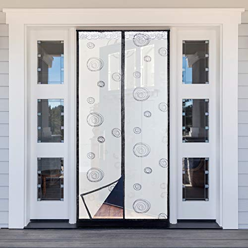 Titan Mall Screen Door squaInsulated Curtain Conditioner Heater Room/Kitchen Warm Winter Cool Summer, Keeping Out Draft and Cold Air Screen Round