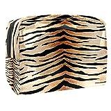 Bolsa de aseo de piel de tigre para maquillaje, organizador de cosméticos, bolsa de viaje para hombres y mujeres