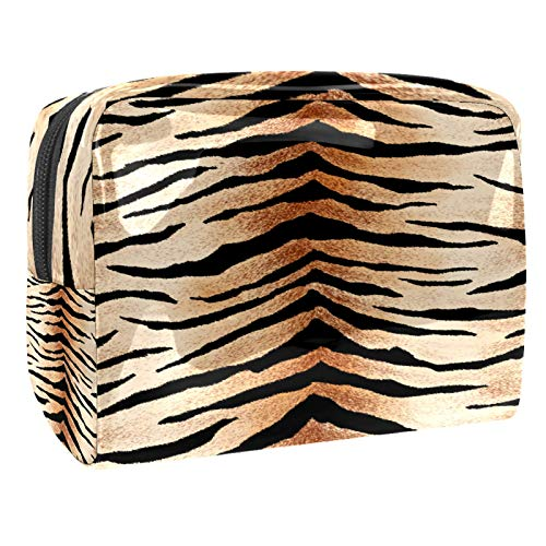 Bolsa de aseo de piel de tigre para maquillaje, organizador