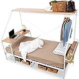 LOWYA 人をダメにするベッド ベッド ベッドフレーム シングル ホワイト×ナチュラル