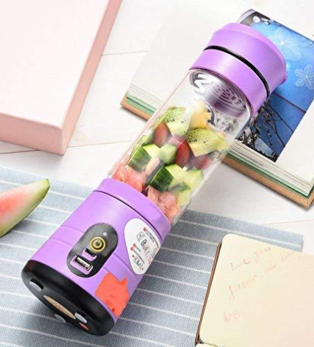 Coppe Juicy portatile ricaricabile Mini spremuta vetro multifunzionale Piccolo Juicer, Viola LMMS (Color : Purple)