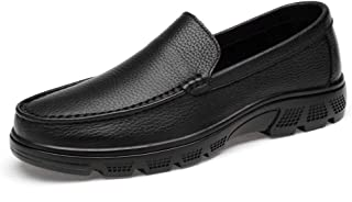 Xujw-shoes, Breathable Mens Laofer Leather Driving Loafers for Men Handtailor Boat Moccasins Slip On Style PU Leather Comfortable Low Top Rubber Outsole Fashionable