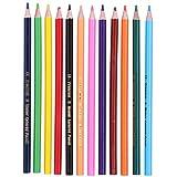 Lápiz de 12 colores, juego de lápices de colores Suministros de arte Lápiz soluble en agua Bocetos para colorear Lápiz de recarga fina Pluma de pintura para colorear profesional para