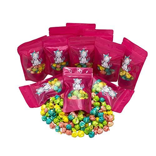 Kindergeburtstag Mini Tüten Buntes Einhorn Popcorn & Piraten Popkorn Mitbringsel Party Give Away Geschenktüten aus Brandenburger Manufaktur (Einhorn 10 Beutel)
