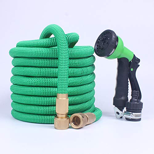XiaoOu Water Hose Pipe Expandable Magic Flexible Garden Hose to Watering with Spray Gun Garden Car Water Pipe Hoses Watering 25-200FT,Green,50ft