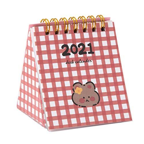 Neuer Kalender 2021 Flip Desktop Kalender 2021 Kalender Niedlich Kreative Desktop Dekoration Schreibtisch Kalender Plan Revision Uhr in kleinen Schreibtisch Kalender Monatskalender 2021 Wandkalender S