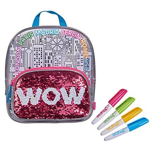 Simba 106374266 - Color Me Mine Swap Back Pack Tasche zum Bemalen / Jetzt neu mit trendigen Wendepailletten