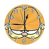 ガーフィールドフェイス 壁掛け時計 おしゃれ デジタル ミュート 円形 掛け時計 置き時計 目覚まし時計 インテリア 装飾