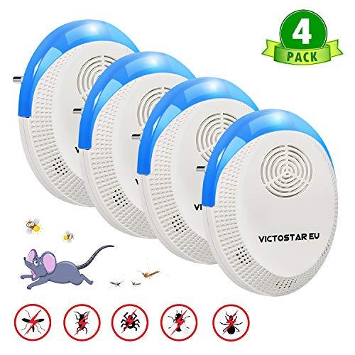 Victostar Anti Moustiques Répulsif Ultrason 4 Pack,...