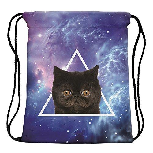 Leah S Fashion Mini Sac à Dos Sac de gym Bag, Type magique (32 x 40 x 2 cm)