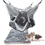 LeerKing Hamacas para Mascotas Colgando Cama Nido de Nido con 3 Capas Laberinto geométrico Cálido Hamster 30*30CM Hamaca para Animales Pequeños Loro Azúcar Planeador Hurón Ardilla