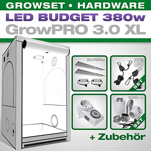 Growbox Komplettset LED (XL, 380 Watt)