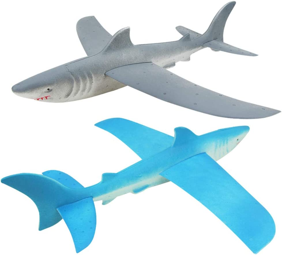 NUOBESTY Shark Glider Plane Throwing Airplane Flying Year-end annual account Import Foam DIY Mo