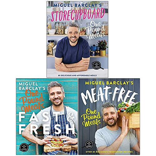 Miguel Barclay 3 Books Collection Set (Storecupboard One Pound Meals, Fast & Fresh One Pound Meals,...
