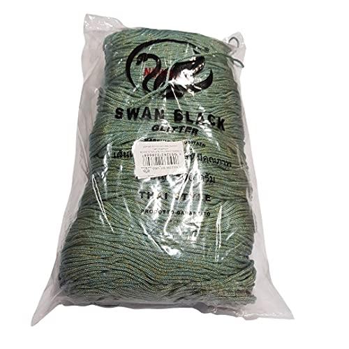 Tre Sfere El cordón Swan Black Thai Azul-Oro Lurex para confeccionar bolsos artesanales y bolsos de ganchillo o con agujas de tejer para hacer tus trabajos a mano