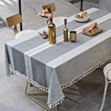 sans_marque Mantel, cubierta de mesa lavable que se puede utilizar para decorar la mesa de la cocina y el buffet de la encimera, y se puede limpiar mantel de 140 x 260 cm