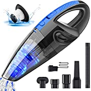 Handheld Vacuum Cleaner, TABIGER Cordless Rechargeable Lightweight Portable Mini Hand Vac with Powerful Cyclonic Suction for Wet Dry Car Pet Hair Home Use