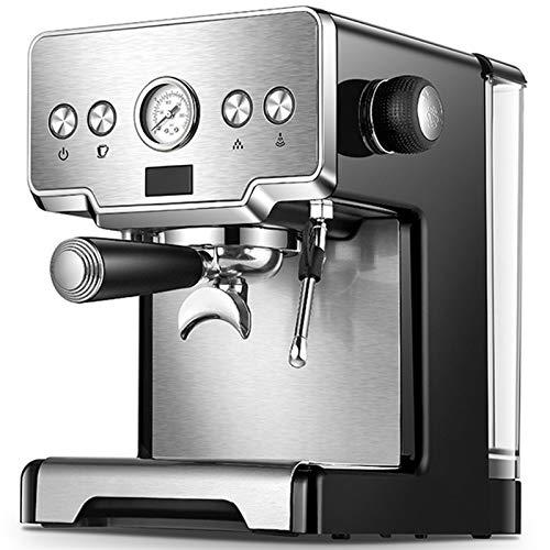 SkadMan Máquina de café automática Espresso Máquina Termostato Hogar Máquina de café Semi-Automático Bomba Cappuccino Leche Bubbler Oficina, hogar