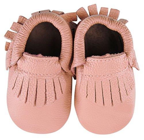 axy , Chaussures souple pour bébé (garçon) rose bonbon 18-24 mois