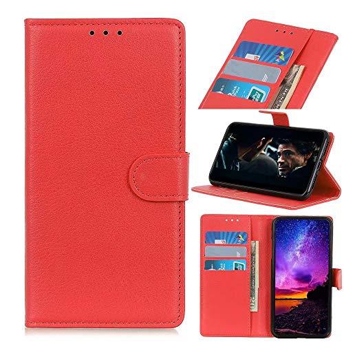 Funda para iPhone 13 mini, a prueba de golpes, piel sintética, con cierre magnético, soporte para tarjetas, funda protectora para iPhone 13 mini, color rojo