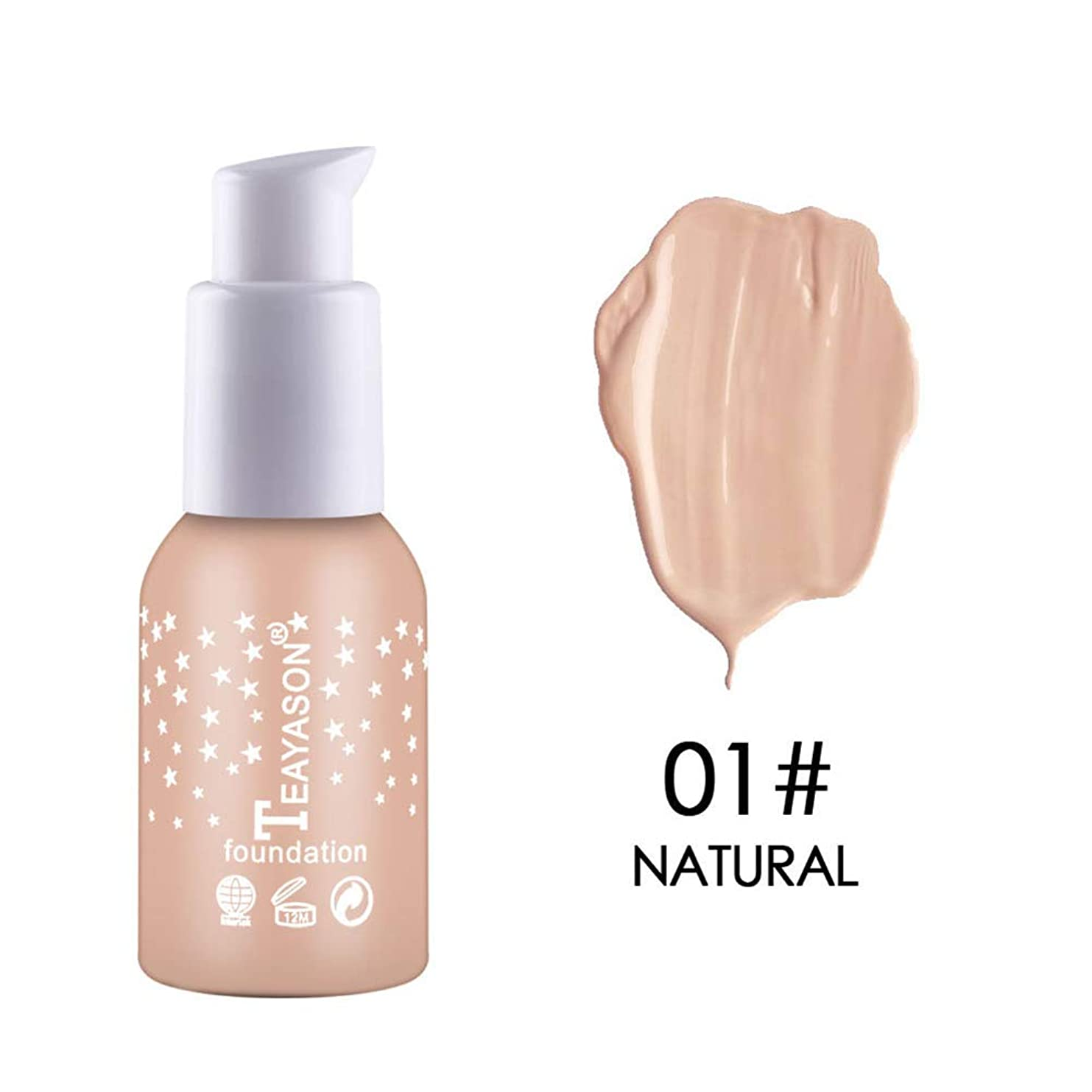 速度ベーリング海峡推定するSymboat Concealer Liquid Foundation Moisturizing Waterproof Oil Control Long Lasting