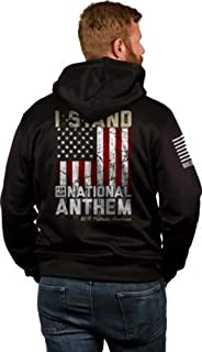I Stand Mens - Tailgater Hoodie Black X-Large