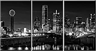Best dallas tx skyline black and white Reviews
