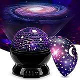 Bosdontek Veilleuse Enfant Etoile Projection Rotation à 360° Lampe Projecteur Lumière Plafond, Led Veilleuse Bébé 8 Modes de couleur, Cadeau pour Bébé, Cadeau D'anniversaire, Noël, Anniversaire