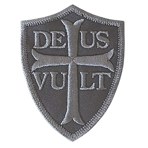 2AFTER1 ACU Subdued Deus Vult Battle Cry Knights Templar Crusader Cross God Wills It Tactical Morale Fastener Patch