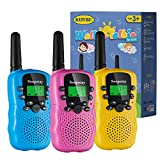 Soopotay Walkie Talkie for Kids 3 Pack, Kids Walkie Talkies Toys for Girls and Boys, Kids Two-Way Radios Toys with 3 Miles Long Distance and 22 Channels, Child Walky Talky for 3-12 (Pink Blue Yellow)