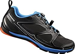 SHIMANO Unisex Adult SH-CT71L Cycling Shoes - Mountain Bike, Black (Black), 43