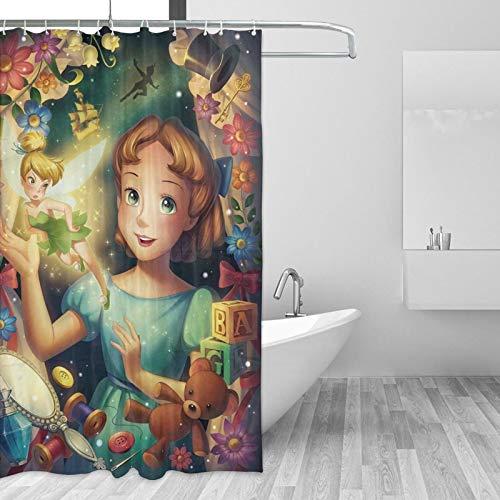 Disney Light Trails Duschvorhänge Schimmelresistent Waschbar 180x180cm 3D Digital Landschaft Gedruckt Wasserdicht Badezimmer Badvorhang Polyestergewebe mit 12 Haken