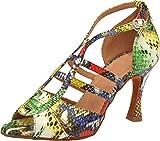 Zapatos de baile cuadrados para práctica de salón de baile de fiesta latina para mujer, color Amarillo, talla 42 EU