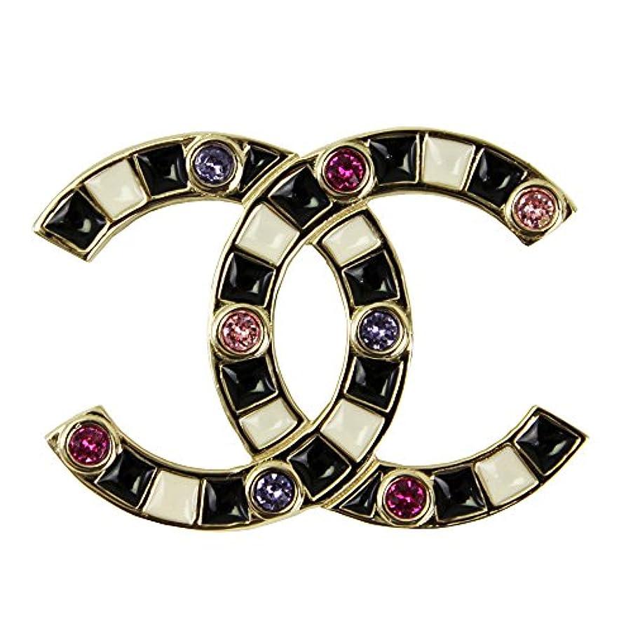 Chanel CC Logos With Rhinestone Brooch A58703
