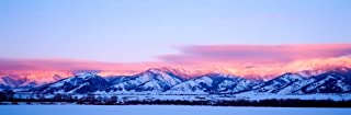 Bridger Mountains Sunset, Montana by Panoramic Images Art Print, 43 x 14 inches