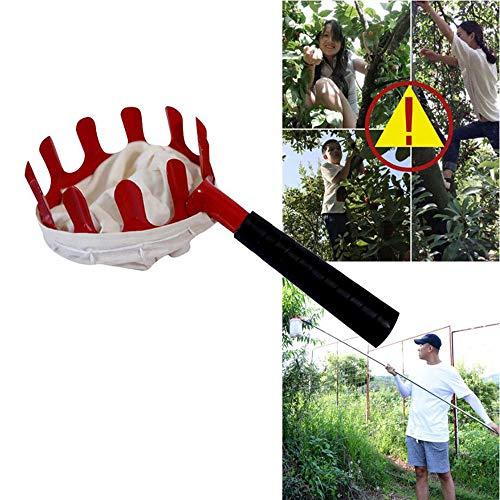 2pcs extérieur Fruit Picker, Orange Pomme Pêche Poire Pratique Jardin Facile Picking Outils de Jardinage Main Sac en Tissu Fruit Picker Haute Altitude
