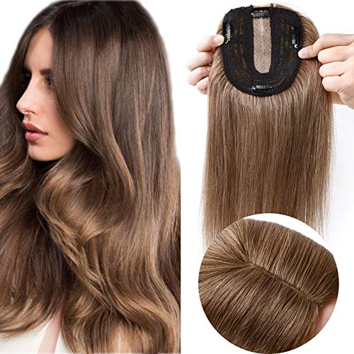 10' SEGO Hair Toppers for Thinning Hair Women Real Hair [10 * 12cm SILK...