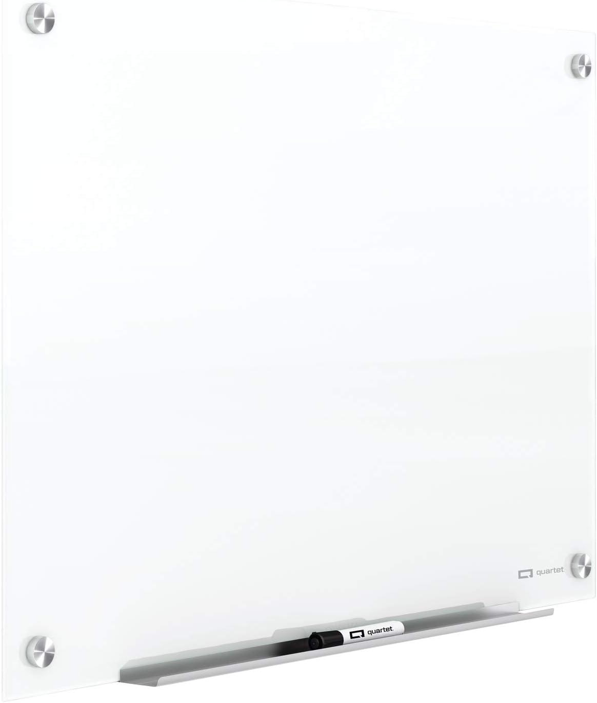 trust Quartet Glass Whiteboard Magnetic Dry Bombing free shipping Erase 1 x 2' Board White
