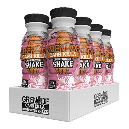 Grenade Carb Killa Strawberries and Cream High Protein Shake, 8 x 330 ml