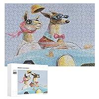 ジグソーパズル 木製パズル 教育おもちゃ 知育パズル 犬柄 アルパカ 運転車 300ピース 減圧おもちゃ 家族の壁の装飾ギフト 壁掛け壁画 子供 大人向け 知的開発 イメントパズル 壁飾り プレゼント 収納ケース付き