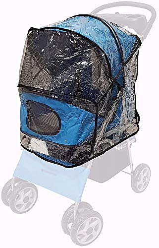 Cochecito de perro plegable/coche de mascotas/de carro/perro y gato cubierta de lluvia transparente,Transparent