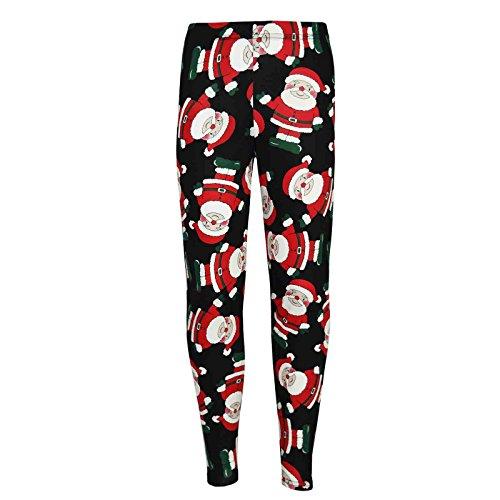 Kids Meisjes Kerstmis Legging Kerstman Pinguïn Print Kerstmis Fashion Leggings