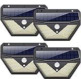 Solar lights Outdoor [4Pack-136LED Super Bright] Solar Security Lights Solar Motion Sensor Lights