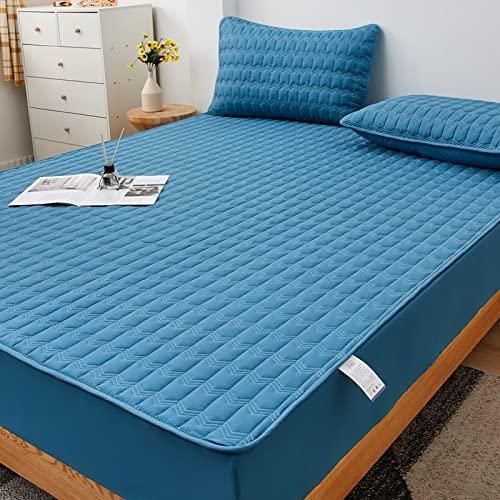 BAJIN Sábana bajera ajustable de microfibra cepillada, sin protector de colchón, 200 x 220 + 25 cm