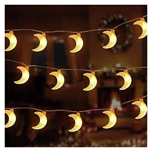 Ramadan Moon Star String Lights, 5m / 20light, 7m / 50ligth, 12m / 100ligh Lights de Hadas Iluminación Decorativa para la Fiesta de Bodas Home Garden Dormitorio (Color : 12m)