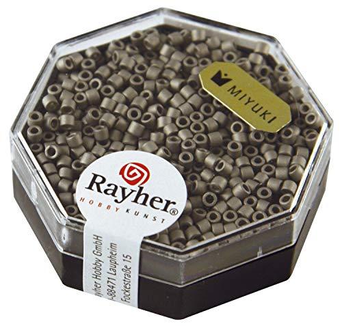 Rayher Miyuki Delica 2 2 mm Métallic dépoli gris acier