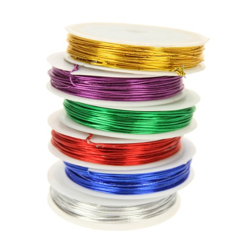 Creation Station 12 m Craft Wire, Pack of 6, Assorted Metallic Colours