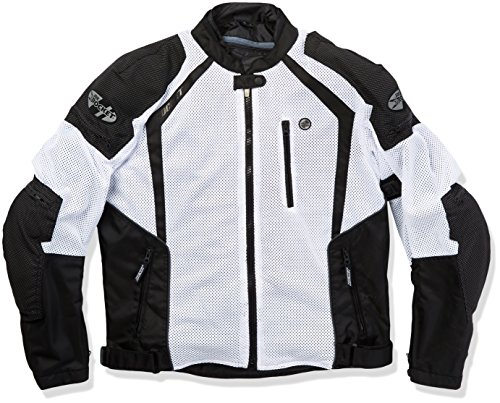 Joe Rocket 1516-4706 Phoenix Ion Men's Mesh Motorcycle Jacket (White, XX-Large)